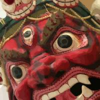 Buddhist Mask by Through The Split Window