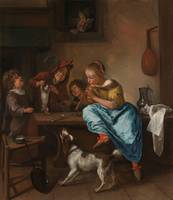 Jan Steen, Children Teaching a Cat to Dance,