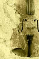 Violin in grunge style