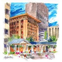 Wainwright Bldg sketch 2 Art Prints & Posters by Michael Anderson