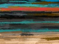 Abstract Turquoise Sunset