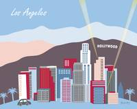 Los Angeles, California in Blue