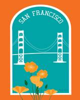 San Francisco, California - Poppies