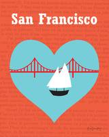 San Francisco, California -  Heart boat