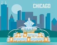 Chicago, Illinois - Buckingham Fountain
