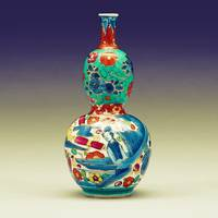 A BLUE AND WHITE JAR, MING DYNASTY 2a