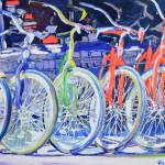 Bicycles In A Row by RD Riccoboni