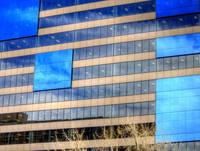 Blue Glass Reflections