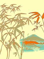 Mt Fiji View from Bamboo Forest Poster