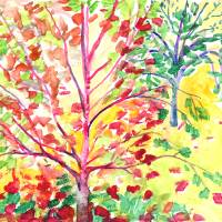 Autumn Tree Study 5 Art Prints & Posters by Jennifer Lommers