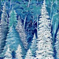 First Frost Art Prints & Posters by Christine K. Jones