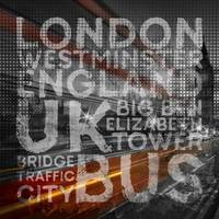 Graphic Art LONDON Westminster Bridge Traffic