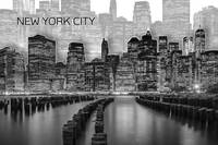 MANHATTAN Skyline | Graphic Art | white