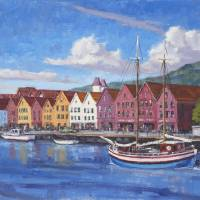 Bergen-Waterfront Art Prints & Posters by David Westerfield