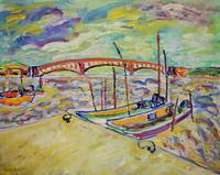 Seascape With A Bridge