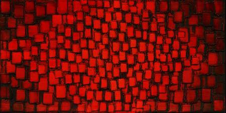 Fire Within - Red Abstract art