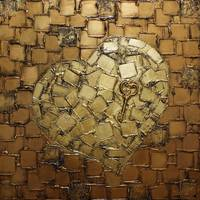 Heart of gold ?? abstract art