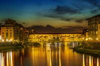 FLORENCE Ponte Vecchio at Sunset