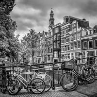 AMSTERDAM Flower Canal black & white