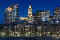 BOSTON Evening Skyline of North End & Financial Di