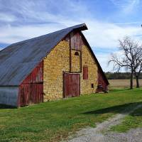 Atchison County Stone Barn Art Prints & Posters by Gary Mcclelland