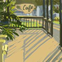 Hotel Clair Cafe Art Prints & Posters by Roger White