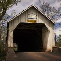 Sheard's Mill Covered Bridge Art Prints & Posters by Louise Reeves