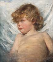 ELISABETH WARLING, PORTRAIT OF A CHILD.