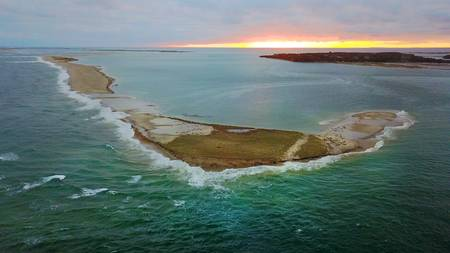 South Beach Island at Chatham, Cape Cod Aerial