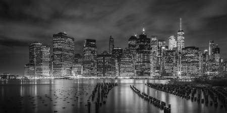 NEW YORK CITY Monochrome Night Impressions | Panor