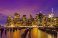 MANHATTAN SKYLINE Bright Sunset