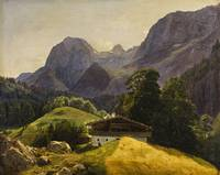 Ferdinand Georg Waldmüller - The Taubensee with th