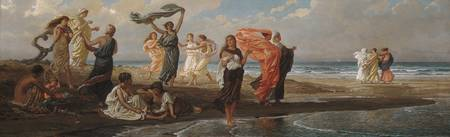 Greek Girls Bathing , Elihu Vedder