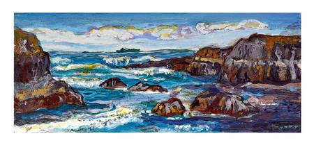 DNG Rocky Seascape Coast w border