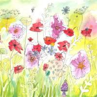 Poppy Meadow Art Prints & Posters by Femi Ford
