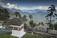 108 Stupas and Himalayas