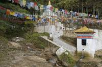 Roadside Stupa and Prayer Flags