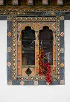 Bhutanese Window with Peppers