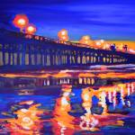 Oceanside Pier at Night by RD Riccoboni