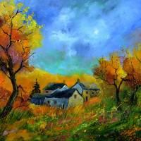 autumn in ferage Art Prints & Posters by pol ledent