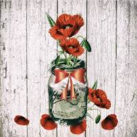 Jar of Poppies Art Prints & Posters by Lisa Rich
