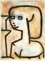 Girl in Mourning , Paul Klee