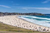 Bondi Beach south end Ben Buckler background.