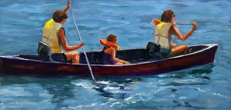 Three in a Canoe