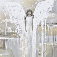 """""With You Always"" Angel Painting"" by ChristineBell"