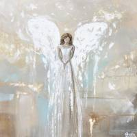 """""My Angels Guiding Light"" - Angel Painting"" by ChristineKrainock"