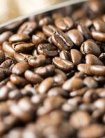 Roasted Coffee Beans Close Up Bokeh