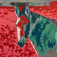 Grey Sky Red Dirt Donkey Painting