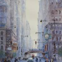 Five O'Clock Rush Art Prints & Posters by Judy Mudd
