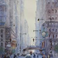 Five O'Clock Rush Art Prints & Posters by Judy Mudd